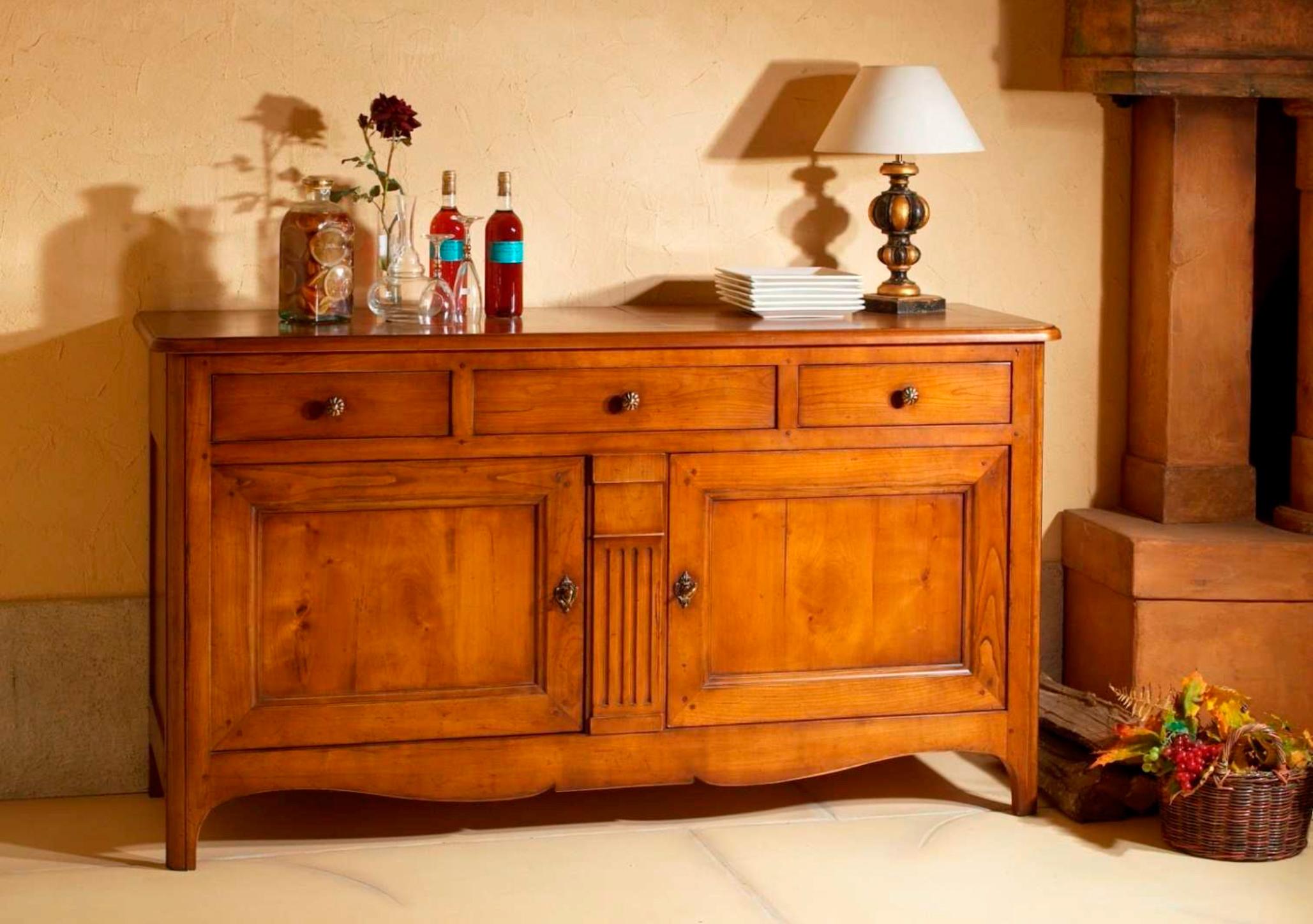 meubles richelieu buffet 2 portes de style directoire. Black Bedroom Furniture Sets. Home Design Ideas